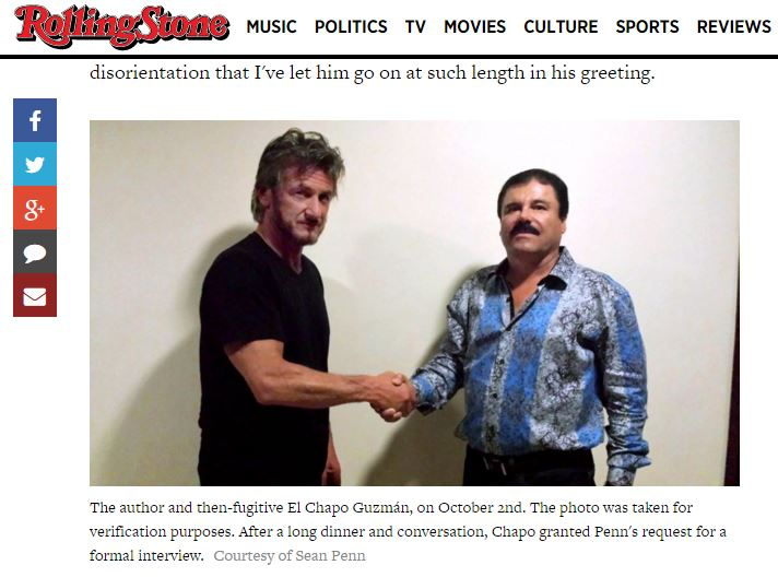 El Chapo and Sean Penn meet