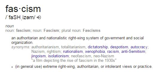 Fascism Definition - thanks Wikipedia