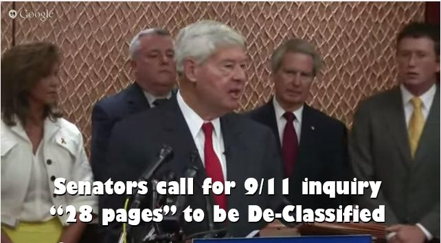 Senators call for immediate release of 28 pages